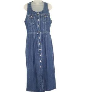 Vintage Old Navy Denim Jean Dress Jumper Size 10